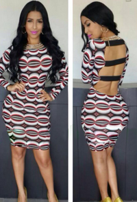 High Street Banded Cut-Out Back Bodycon Dress