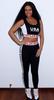 Rihanna Fashion Sport USA Pant and Tank Top