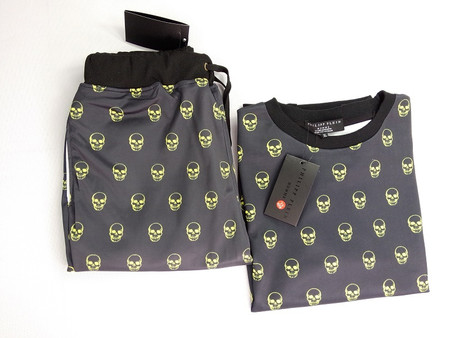Skull Unisex Joggers and Pullover Sweater - Set