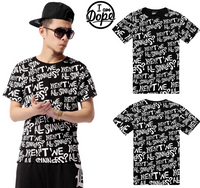 Hip Hop Men Casual Sinner Scrawl T-Shirt