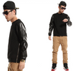 Khalifa Leather Sleeves Sweatshirt