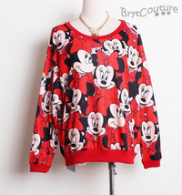 Mickey Minnie Pullover SweatShirt