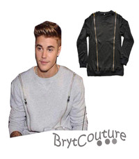 Justin Bieber Casual Crew Neck Sweater