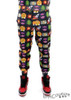 Men's Fleece Emoji Joggers Sweatpant - Black
