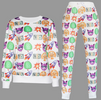 Emoji Joggers Sweatpant  and Sweatshirt - Set white