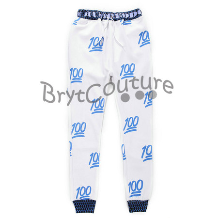 BrytCouture Limited Edition 100 Emoji Joggers Blue