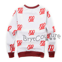 BrytCouture Limited Edition 100 Emoji Sweatshirt Red