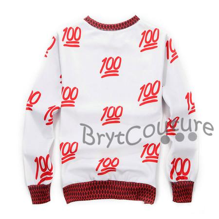 BrytCouture Limited Edition 100 Emoji Sweatshirt Red