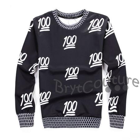 BrytCouture Limited Edition 100 Emoji Sweatshirt Black
