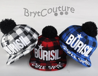 Burisil Noble Spirit Plaid Skateboard Snap Back Hats