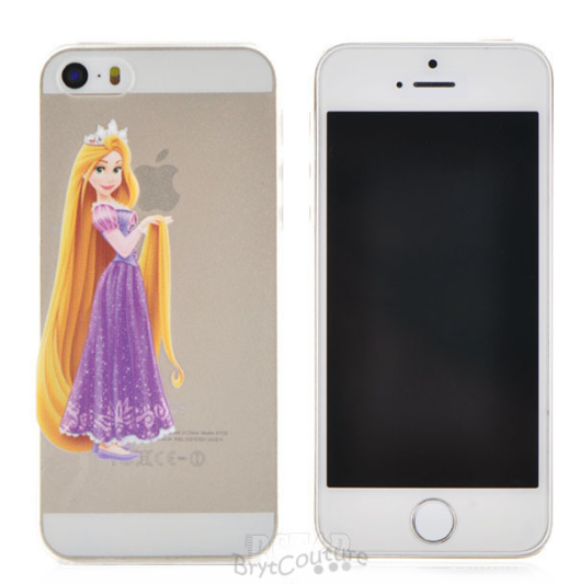 new styles 790c5 928ab Transparent Fairy Tale Rapunzel Princess iPhone Cover