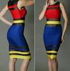 Bodycon Mesh Patchwork Dress