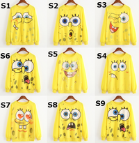SpongeBob Cartoon Characters Pullover Sweatshirts