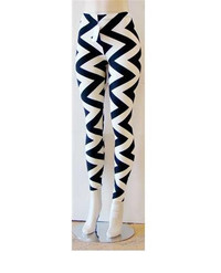 Comfy Fit Zigzag Print Design Stretch Leggings