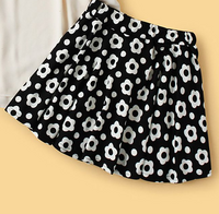 Black and White Mini Skater Skirt