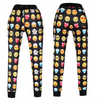 Unisex Black Emoji Sweatpants Joggers and Sweatshirt Set