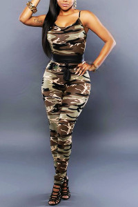 Off Shoulder Military Soldier Catsuit