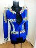 Queen B and Lady Gaga Style Blue Stage Jacket  Beyonce Blue Jacket