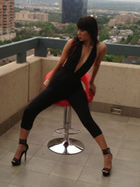 Backless Black Jumpsuits From View