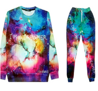 I'M A Dreamer Galaxy 3D Print Tracksuit Jogger and Sweatshirt Set - Unisex