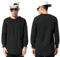 063a79120bc3 BrytCouture Hip Hop Celebrity Extended Long Sleeves Streetwear T-Shirts -  Black