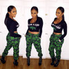 Two Piece Crop Top and Joggers Jumpsuit Set