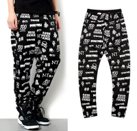 Scrawl Full Print Men Hip Hop Sweatpants