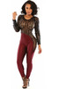 2015 Style Women Skinny Party Jumpsuit front view