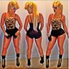 Sexy Keyshia Black One-piece Bodysuit