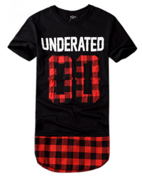Underated 00 Plaid Extended Unisex T-Shirt