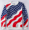 Unisex American Flag Hip Hop Tracksuit Jogger & Sweatshirt Set - White