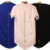 BrytCouture's Men Short Sleeve Hip Hop Zipper  Design T-Shirt