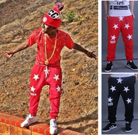FCC 5 Star Givenchy Inspired Sweatpant Red & Black