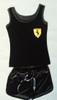 Casual Black Short and Vest Set BrytCouture Ferrari Short and top  Ferrari set