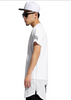European Style West Side Paisley Bandana Extended Hip Hop T-Shirt  White