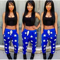 BrytCouture Stars Print Blue & Black Top Two-piece Jumpsuit