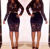 Open Back Sexy Long Sleeves Mini Dress - Black