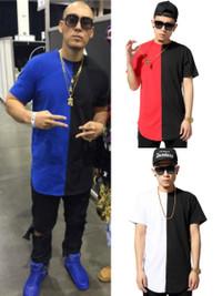 2015 Hip Hop Style Half & Half Streetwear Tshirt