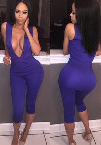BrytCouture Ultra Sexy Sleeveless V Neck Romper Jumpsuits