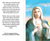 "Prayer Card--""Mary, Take and Resolve""--Prayer of Confidence to Blessed Mother"