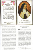 St. Therese of the Child Jesus Prayer Card