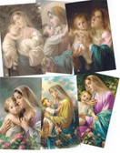 Assorted Blessed Mother Images Blank Prayer Card-no text