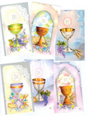 Assorted Chalices--Prayer Card Size Image--Blank on back