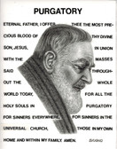"St.Gertrude's Purgatory Prayer with Original Image of St. Pio, Laminated, 8 1/"" x 11"""