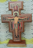 San Damiano Embellished Border Crucifix with Gold Accents
