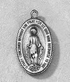 "Miraculous Medal (7/8"") Pendant - Pewter"