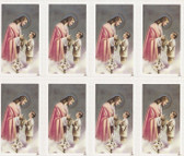 Custom Print Jesus with Boy and Lily First Communion Cards (Custom set of 8)