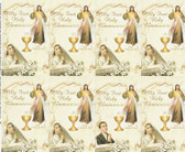 Custom Print Divine Mercy Jesus with Girl-First Communion Holy Cards (Custom set of 8)