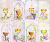Custom Print First Communion Chalices Holy Cards - Variety (Custom set of 8)