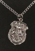 Pewter Saint Michael Badge Pendant 2